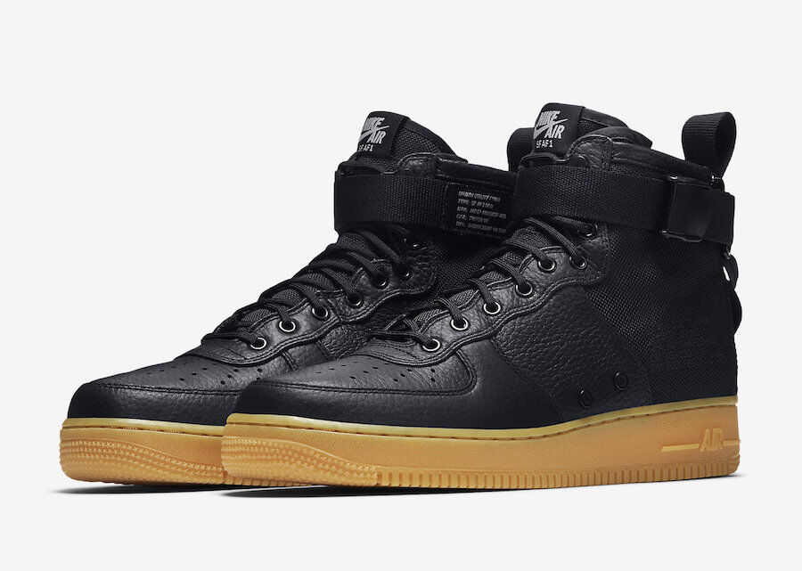 2017 Nike Air Force 1 SF AF1 Mid SZ 10 Black Gum Special Field 917753-003
