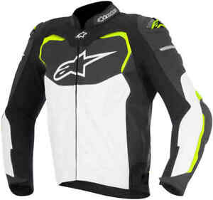 Alpinestars-GP-Pro-Leather-Motorcycle-Jacket-Blk-Wh-Fluo-Now-199-99