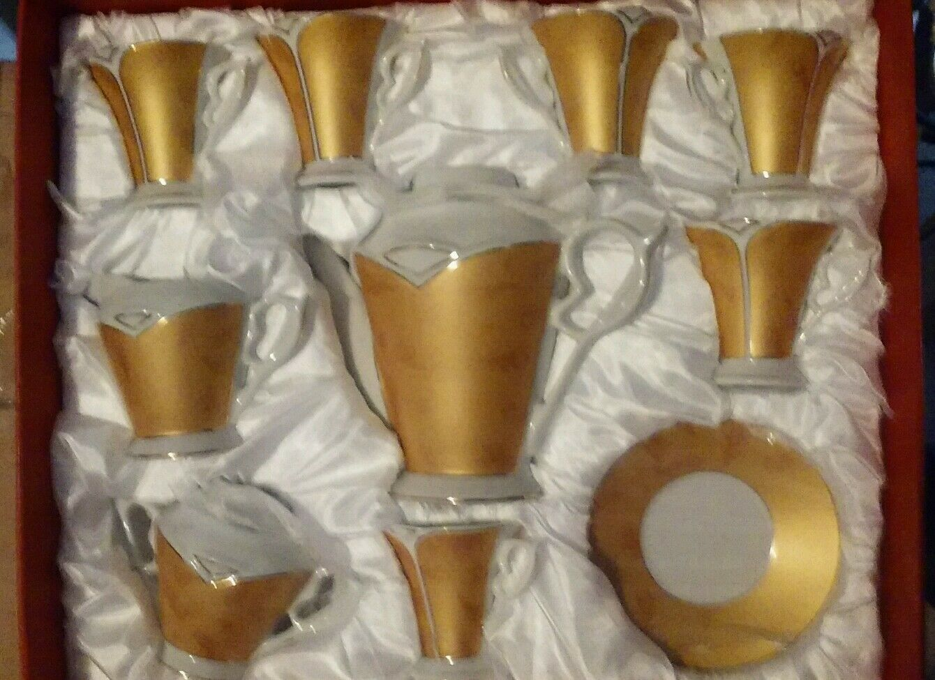 15PC. ESPRESSO   TEA SET  COMPLETE  or Couleur   excellent for ESPRESSO