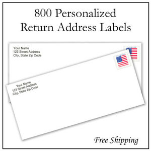 Checkered Flag Personalized Return Address Labels 1//2 in by 1 3//4 in