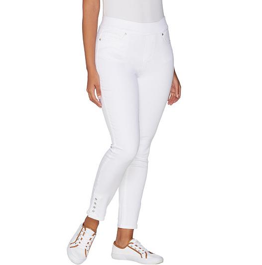 Martha Stewart Regular Knit Denim Pull-On Jeans with Drawstring Indigo Sz 10 QVC