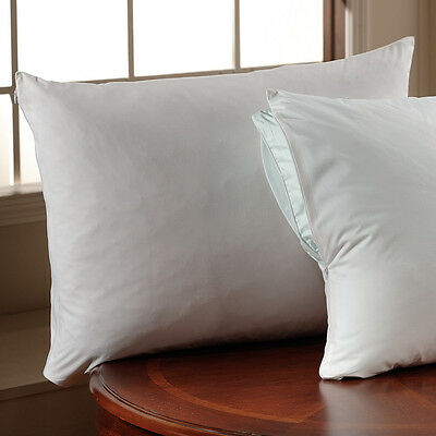 Downlite Hotel Set of 2 Zippered Pillow Protectors Protector Set Cotton