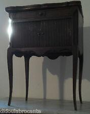 ancien chevet rideau a système rallonges bureau coiffeuse meuble français ancien