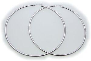 Damen-Ohrringe-riesige-Creolen-Silber-925-Durchmesser-85-mm-Sterlingsilber