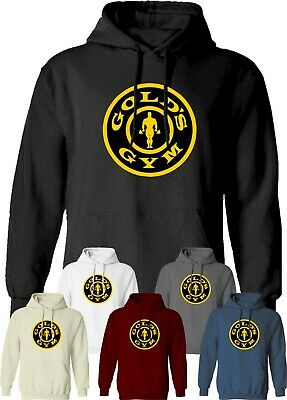 Golds Gym Hoodie Workout Fitness Training Bodybuilding MMA UFC Clothing