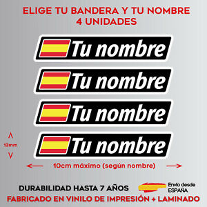 4X-BANDERA-NOMBRE-PERSONALIZADO-PEGATINA-VINILO-CASCO-BICICLETA-BICI-MTB-MOTO