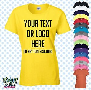 Custom-Personalised-Womens-Ladies-Printed-T-SHIRT-Hen-Party-Gift-Your-text-logo4