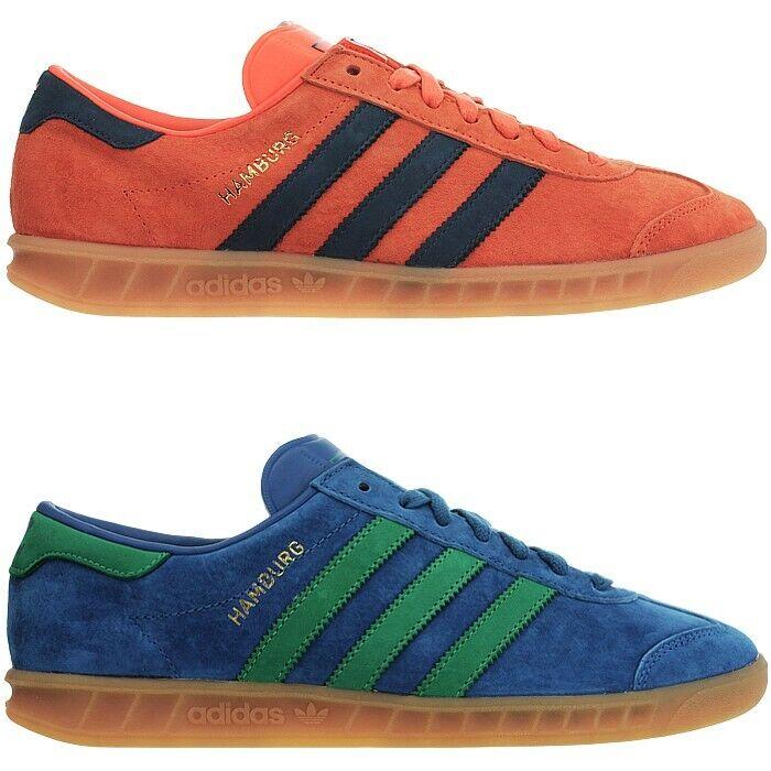 Adidas Hamburg Herren low-top Turnschuhe Orange blau Freizeitschuhe Turnschuhe NEU