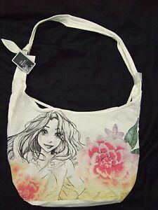 Cute-Nwt-Tangled-Rapunzel-Flowers-Crossbody-Disney-Sketch-Hobo-Tote-Bag-Purse