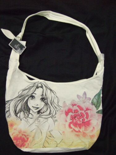 Cute Nwt Tangled Rapunzel Flowers Crossbody Disney Sketch Hobo Tote Bag Purse