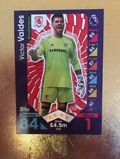 Match Attax Season 16/17 Middlesbrough #200 Victor Valdes