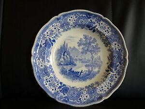 Villeroy-amp-Boch-Burgenland-blau-Suppenteller-tiefer-Teller-034-Saar-Stempel-034