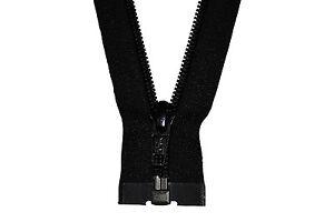 YKK Reißverschluss 1Wege schwarz teilbar 200cm lang 5mm Spirale
