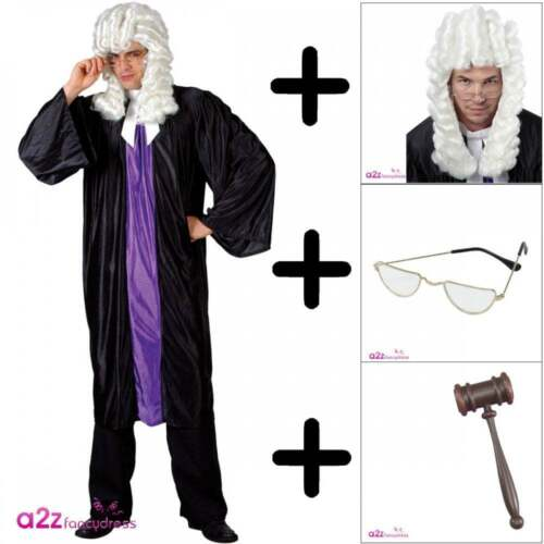 Adult High Court Judge Costume Courtroom Barrister Law Mens Womens Fancy Dress