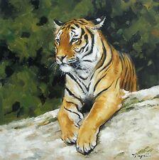 Original Oil painting - wildlife art - big cat - tiger portrait - by j payne