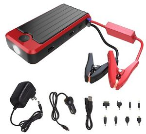 Details About Powerall Pbjs12000r Rosso Red Black Portable Power Bank And Car Jump Starter