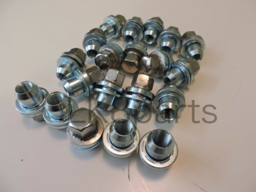 LAND ROVER RANGE ROVER SPORT 05 ON WHEEL NUTS WITH WASHER SET x20 RRD500510 NEW