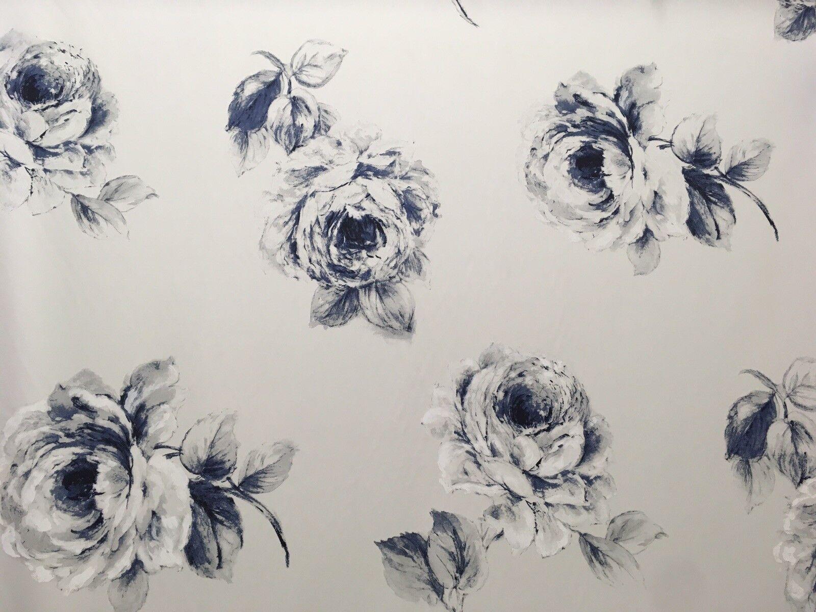 Sanderson   rosa     Tendine Cuscino Tendina 100% Cotton Tessuto 1.9 Indaco fb1fbc