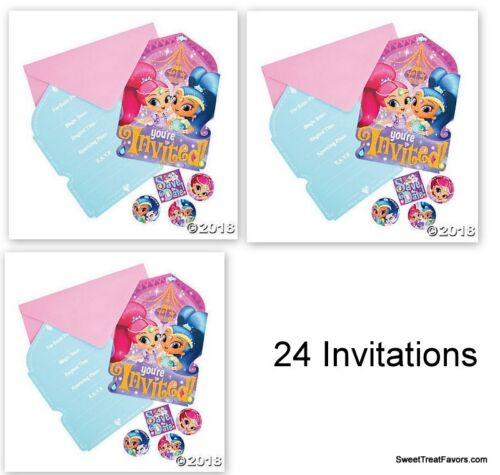 Shimmer and Shine Party Favors Party Birthday 24 Invitations Gennies Invite NEW