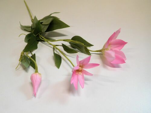 Clematis Seidenblume Kunstblume Kunstpflanze 73 cm rosa rose N-12474-7 F64