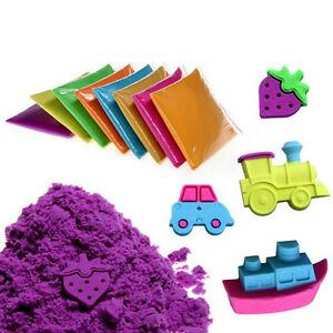 Magic Motion Kinetic Colorful Sand Kid Child DIY Indoor Play Craft Non Toxic Toy