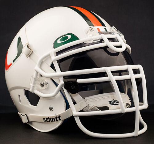 *CUSTOM* MIAMI HURRICANES NCAA Schutt XP Authentic GAMEDAY Football Helmet