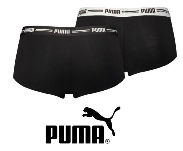 Puma – Damen Minishort Boxer – 4er Pack – schwarz – Größe L / 42