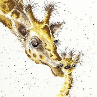 BOTHY THREADS FIRST KISS CROSS STITCH KIT GIRAFFES - NEW XHD3