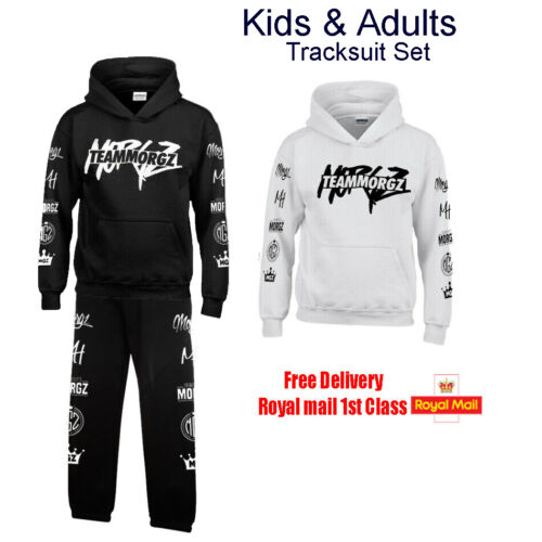 TEAM MORGZ Boys Girls Mens Womens Hoodie jumper Top Tracksuit Set Music Hits.