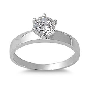 .50CT ROUND CUT SOLITAIRE ENGAGEMENT .925 Sterling Silver Ring sizes 6-9
