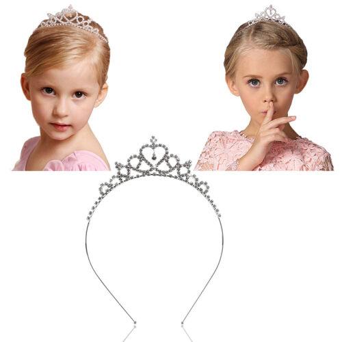 Kinder Prinzessin Königin Rhinestone Hochzeit Tiara HairBand Mädchen-Krone HOT