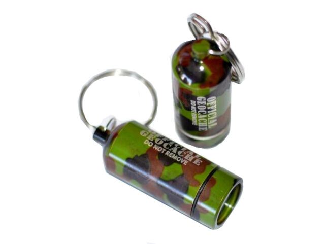 3 x Micro Geocaching Container Hideout Cache Nano camouflage hang up