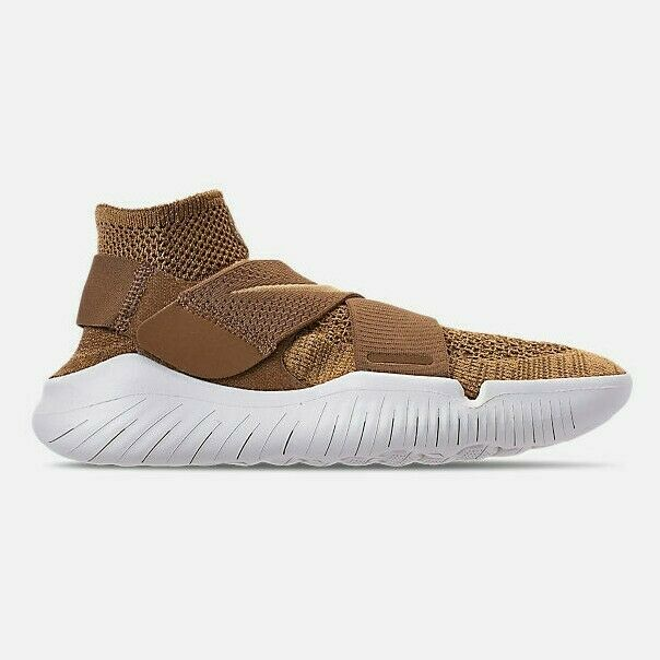 NIB Men's Nike Free RN Motion Flyknit 2018 Running shoes Size 10 gold 942840-201