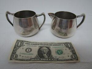 Vintage-FB-Rogers-Silver-Co-Sugar-Bowl-amp-Creamer-Excellent-Condition