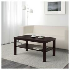 IKEA Lack Black Brown Couch Sofa Coffee Table With Shelf/Cabinet Living Room