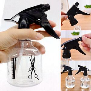 250ml-Gleader-schwarz-Durchsichtig-Kunststoff-Friseursalon-Spruehflasche-NE-V1P4