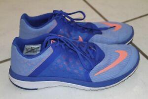 różne style sportowa odzież sportowa oszczędzać Details about Nike Fitsole Running Shoe Women Size 9.5 M Walking Navy & Lt.  Blue