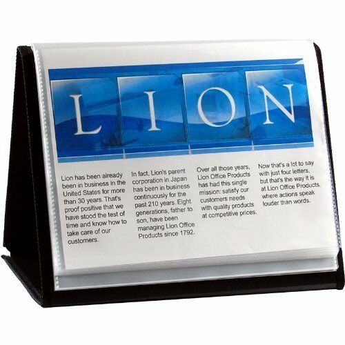 Lion Flip-N-Tell 40 Chart Display Book-N-Easel 8.5 x11  39008-H (Qty 12) ++ NEW