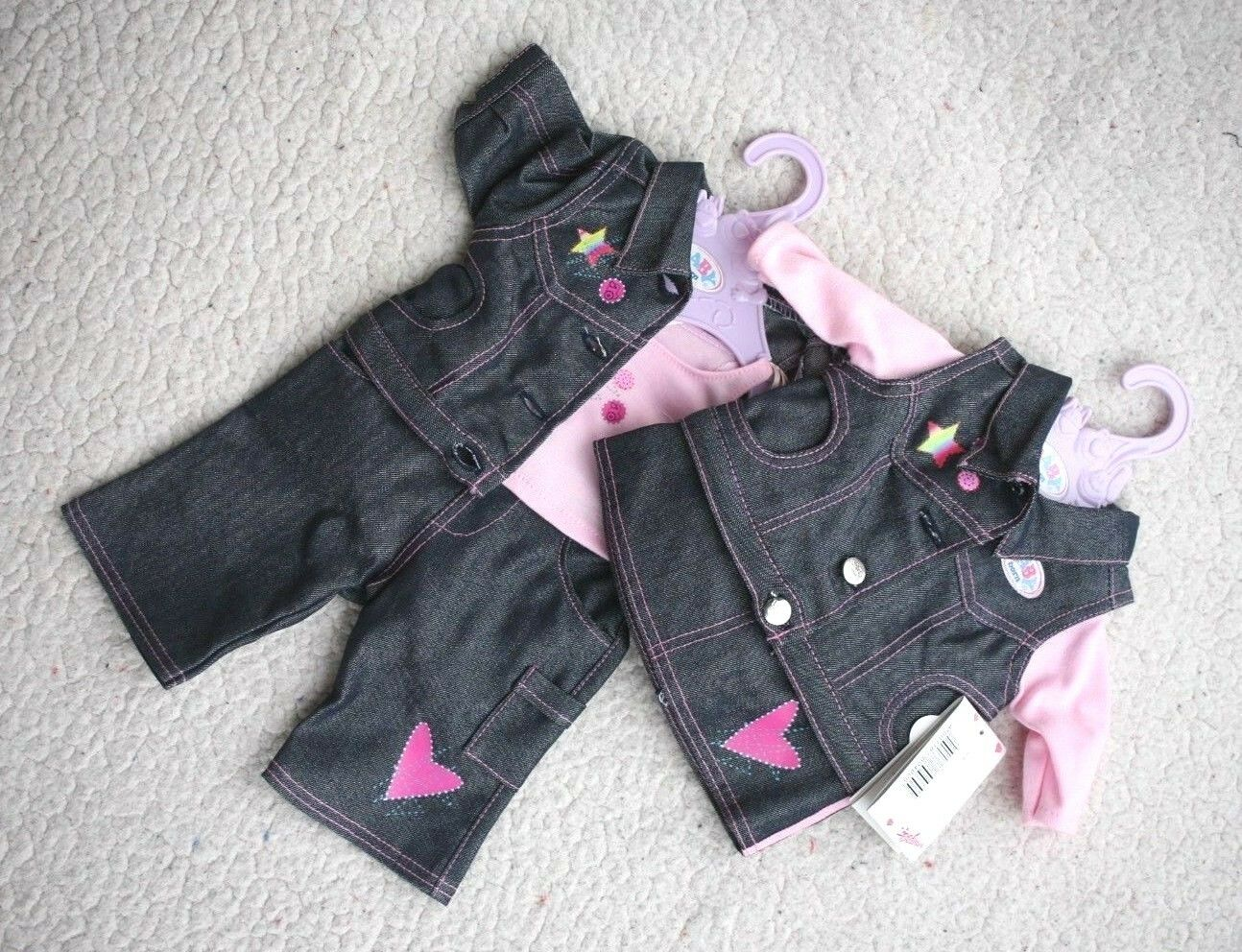 IMPOSSIBLE TO FIND: ZAPF DENIM OUTFITS for GIRL & BOY BABY BRAND NEW WITH TAGS