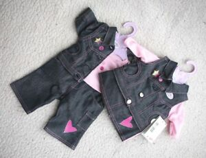 IMPOSSIBLE-TO-FIND-ZAPF-DENIM-OUTFITS-for-GIRL-amp-BOY-BABY-BRAND-NEW-WITH-TAGS