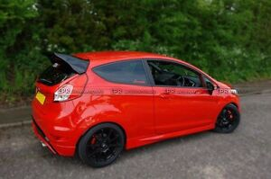 Details About Rear Spoiler Window Wing Lip Kit For Ford Fiesta St Facelift Rs Style Frp Fiber