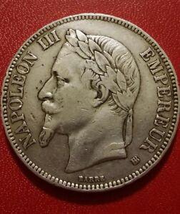 5-frs-Napoleon-III-1869-BB-argent-TTB