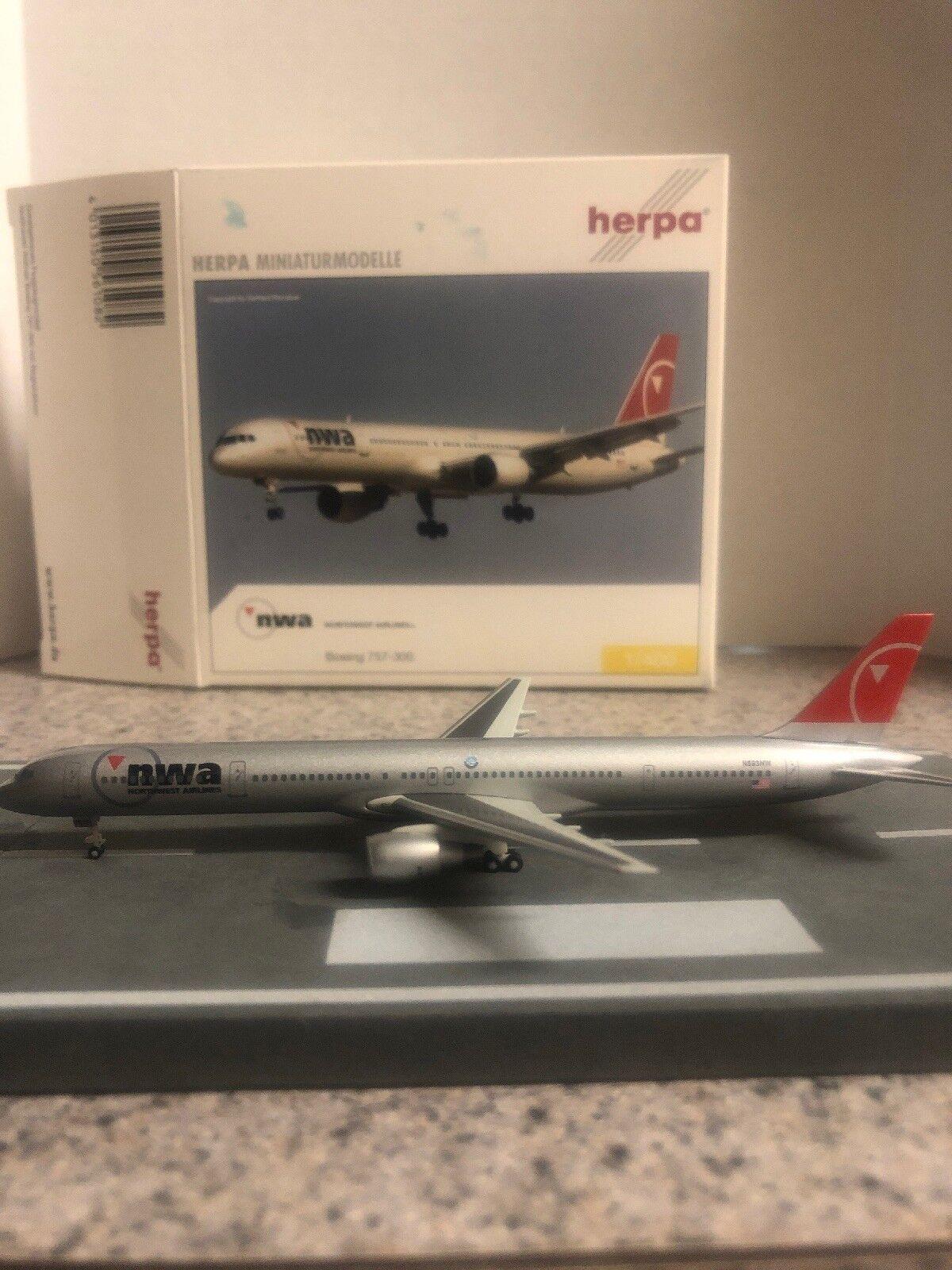 Herpa 1 400 escala Diecast Modelo Herpa Herpa Herpa NWA B757-351 N593NW avión comercial 792906