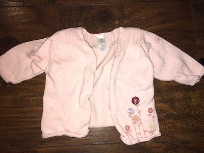 Qualified Sz Nb Carter's Pink Sweater Button Flowers Euc Girls' Clothing (newborn-5t) Clothing, Shoes & Accessories