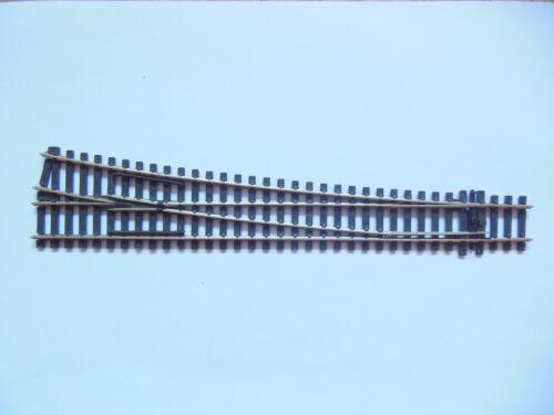 Weiche rechts 12° Peco H0 SL-E88 gebraucht ohne Schienenverbinder 26 cm