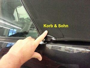 VW Golf Cabrio 1 3 4 6 Verdeck Reparatursatz Repair Set Flicken in Cabriostoff-