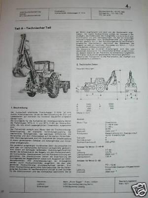 Ddr Reklame Prospekt Datenblatt Anbaubagger E 1514 Belarus Mt3-5 C/mc Udssr 1971 Professionelles Design Business & Industrie