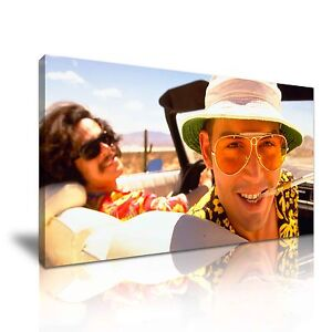 RAOUL-DUKE-Fear-and-Loathing-in-Las-Vegas-Movie-Framed-Canvas-Print-More-Size