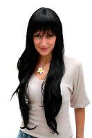 Wig Black Super Long Fringe Quality Wig Women's Wig 6311-1b Approx. 75 Cm