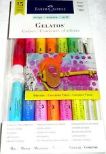 Faber-Castell GELATOS BRIGHTS 15 Pieces Mix & Match Creamy Vibrant Pigment